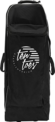 Ten Toes SUP Emporium Ten Toes Nomad Istand Up Paddle Board Roller Bag with Wheels, Black and White