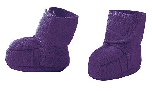 Disana Baby Wollwalk-Schuhe aus reiner Bio-Merinoschurwolle (Gr. 1 (4-8 Monate), pflaume)