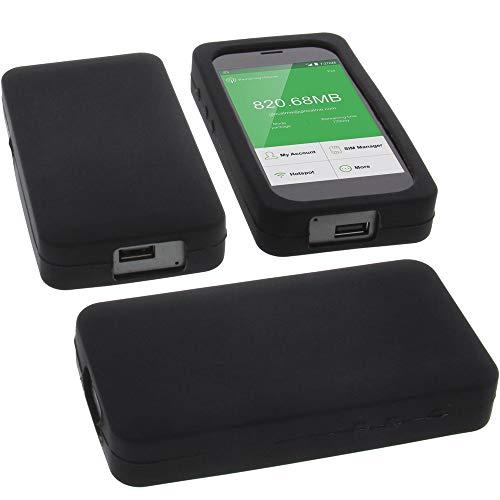 foto-kontor Tasche für GlocalMe G3 Silikon Schutz Handytasche schwarz