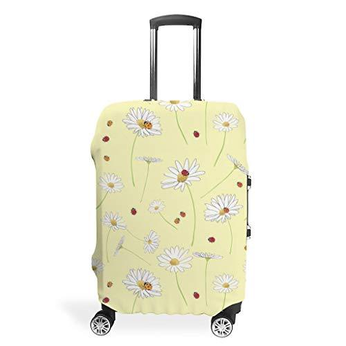 Frühlingsblumen Gänseblümchen Gelb Koffer-Abdeckungen Gepäck Cover Luggage Koffer Schutzhülle 3D-Druck Kofferschutz Trolley Case Schutzhülle White m (60x81cm)