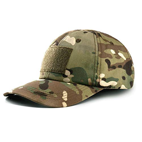 Tactical Hat Military Hat Camo Hat with 6 PCS Tactical Patches Adjustable Breathable Durable Cotton Camouflage Baseball Cap for Hiking Shooting Hunting and Other Outdoor Activities Suitable for Men