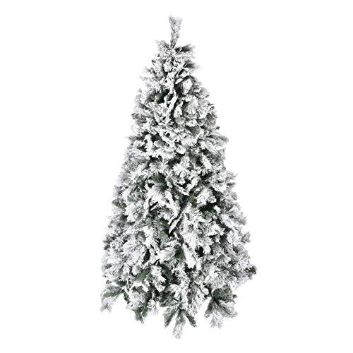 XONE Albero di Natale 210 cm - Innevato e folto | Albero Bianco Artificiale in PVC
