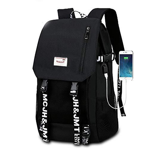 EARLYS Furto Zaino Traspirante Laptop Backpack Maschi Impermeabile Computer Scuola Media Liceo Istituto Scuola Borsa da Scuola Porta di Ricarica USB Utilizzato nei Portatili da 15 Pollici Pacchetto