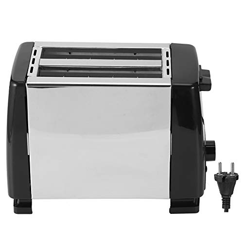 ZHenMei 750W 2 Rebanadas Tostadoras de Pan 6 Engranajes de La Máquina de Cocina Del Desayuno Enchufe 220 Black 240V