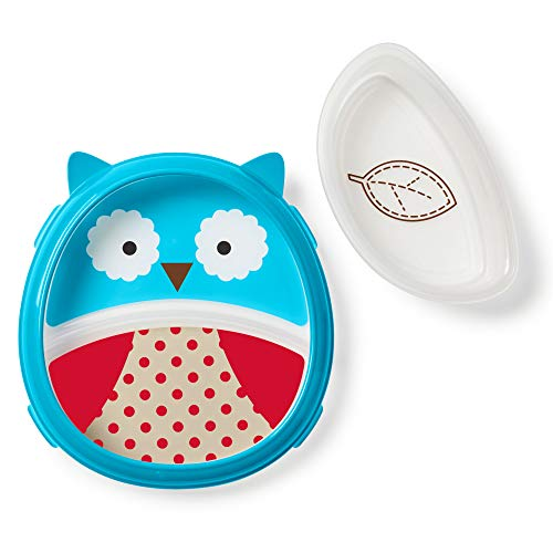 Skip Hop Baby Self-Feeding Training Dishes: Microwave and Dishwasher Safe Training Plate, Owl