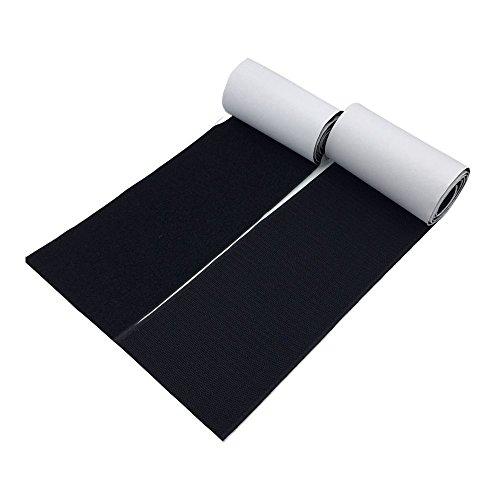 UZIPAL 面ファスナー 両面テープ 幅12.5cm×長さ1m オスメスセット 超強力 粘着 防水 耐熱 業務用 家庭用 DIY用(ブラック)
