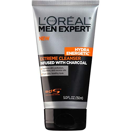 L'Oreal Paris Skincare Men Expert Hydra Energetic Facial Cleanser with Charcoal for Daily Face...