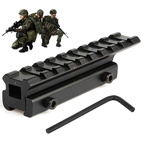 Karpal Adapter Tactical Picatinny Schiene Riser Mount Rails für Airsoft, Jagdpistole und Sport für Zielfernrohr Montagen RSM06 11mm Prismenschiene auf Weaver Picatinny Schiene