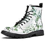 Illustrazione botanica scarpe impermeabili piatto lacci stivaletti tacco basso lavoro combattimento stivali, (Illustrazione botanica), 40 2/3 EU