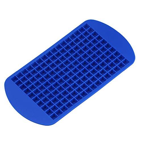 CTOBB 160 Grids de qualité Alimentaire Silicone Ice Plateau de Fruits Ice Cube Maker Bricolage créatif Petit Ice Cube Moule Forme carrée Accessoires de Cuisine, Bleu
