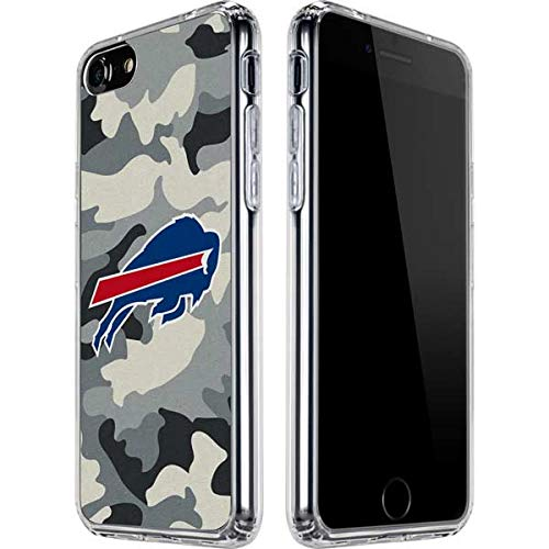 Skinit Clear Phone Case Compatible with iPhone SE - Officially Licensed NFL Buffalo Bills Camo Design