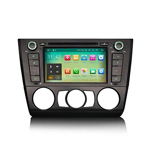 ERISIN Android 10.0 Autoradio für BMW 1ER E81 E82 E88 7 Zoll Multimedia Player mit GPS-Navi Unterstützt Carplay Android Auto Bluetooth A2DP WiFi 4G DAB+ DVB-T RDS Mirror- Link TPMS 2GB RAM + 16GB ROM