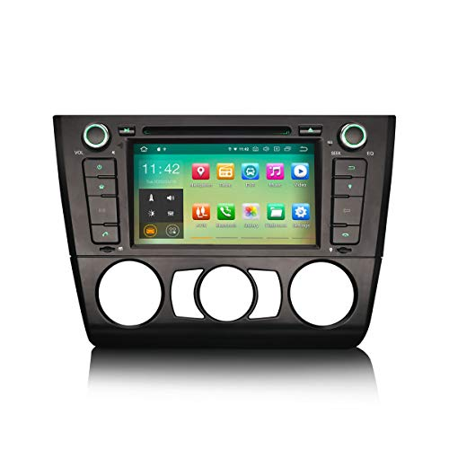 ERISIN Android 10.0 Autoradio für BMW 1ER E81 E82 E88 7 Zoll Multimedia Player mit GPS-Navi Unterstützt Carplay Android Auto Bluetooth A2DP WiFi 4G DAB+ DVB-T RDS Mirror- Link TPMS 2GB RAM + 16GB ROM