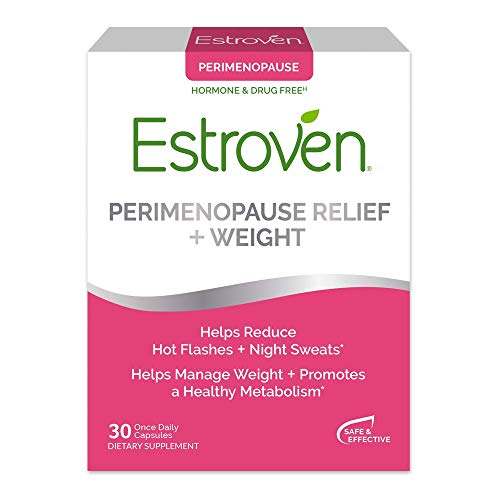 Estroven Perimenopause Relief + Weight Management Supplement - Helps Reduce Hot Flashes & Night Sweats - Helps Manage Weight - Contains Naturally-Sourced Black Cohosh - 30 Capsules
