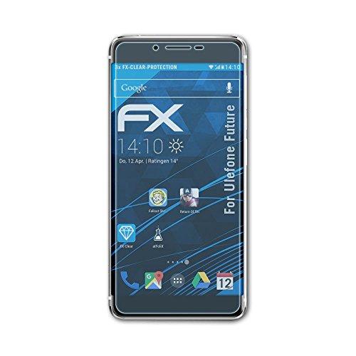 atFolix Schutzfolie kompatibel mit Ulefone Future Folie, ultraklare FX Bildschirmschutzfolie (3X)