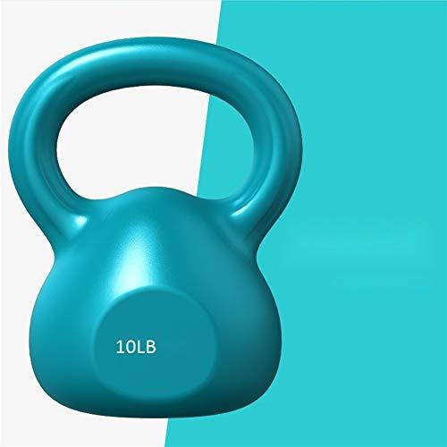 Kettlebells Herren Hantel Fitness Haushaltsgeräte Squat Thin Arm Hantel Gewichtsverlust Hebetopf Hantel Multifunktionale Hantel (Farbe : Blau)