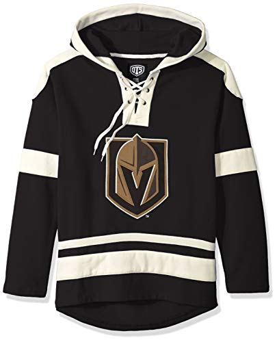 OTS NHL Vegas Golden Knights Men's Grant Lace Up Pullover Hoodie, Logo, Large