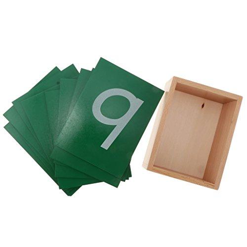 Gazechimp Material De Matemática Montessori Madera 0-9 Número Arena Tablero Juguete Educativo Temprana Niño Regalo