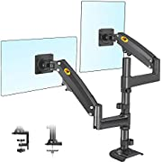 NB North Bayou Dual Monitor Desk Mount Stand Full Motion Swivel Computer Monitor Arm Fits 2 Screens up to 32'' with Load Capacity 4.4~26.4lbs for Each Monitor H180-B