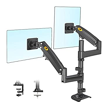 NB North Bayou Dual Monitor Desk Mount Stand Full Motion Swivel Computer Monitor Arm Fits 2 Screens up to 32   with Load Capacity 4.4~26.4lbs for Each Monitor H180-B