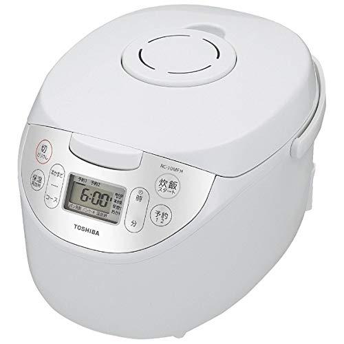 東芝 マイコンジャー炊飯器(5.5合炊き) ホワイトTOSHIBA マイコン保温釜 RC-10MFH-W