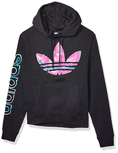 adidas Originals Men's Watercolor Hooded Sweatshirt, black, Small
