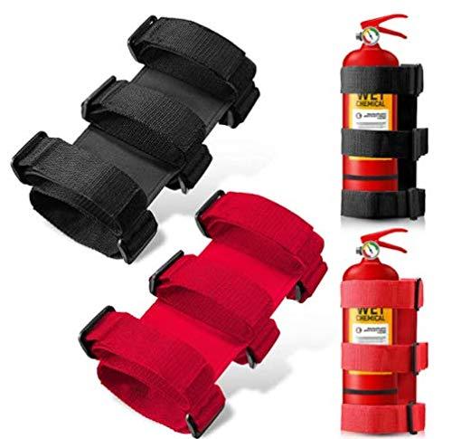 2 PCS Fire Extinguisher Strap Car Fire Extinguisher Fixing Belt