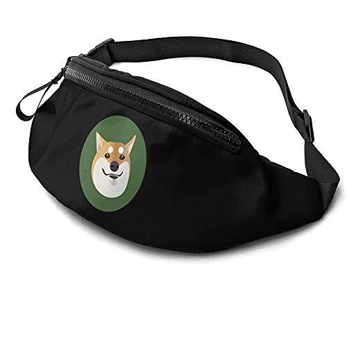 Jrey.T Shiba Inu Logo Runner's Fanny Bag Waist Pack Sangles Réglables Poche avec Prise Casque pour Unisexe