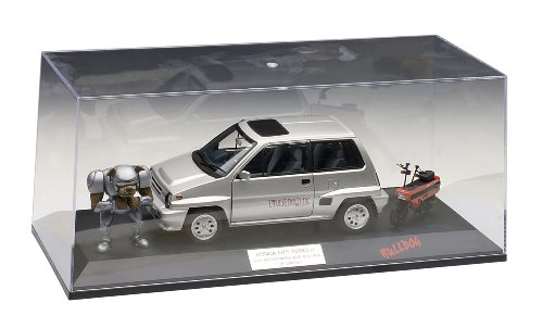 Honda City Turbo II Silver With Motocombo In Red with Bulldog and display case 1/18 by Autoart 73284