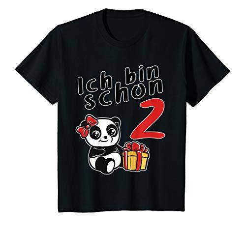 Kinder Ich bin 2 Jahre Geburtstags Panda zweiter Geburtstag T-Shirt