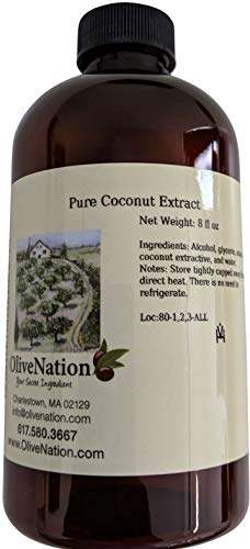 OliveNation Pure Coconut Extract - 8 ounces - Gluten free, Sugar free also bake and freeze-proof - baking-extracts-and-flavorings
