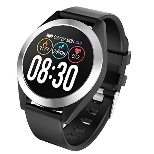 Smartwatch, LQIAN Fitness Tracker Uhr Armband Sportuhr Smart Watch mit SMS Facebook, Twitter, Whatsapp, Linkedin, Messenger, Benachrichtigungskompatibles iOS und Android Kompatibel mit Männer Frauen