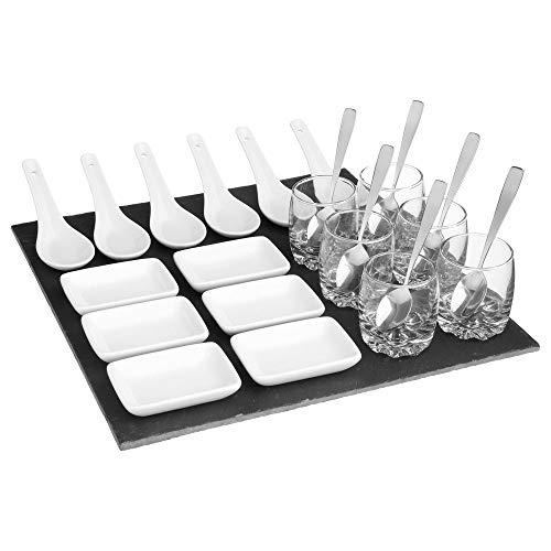 Secret de gourmet - Set apéritif carré de 25 pièces