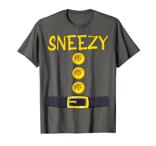 Sneezy Dwarf Halloween Costume Color Matching Gifts Idea T-Shirt