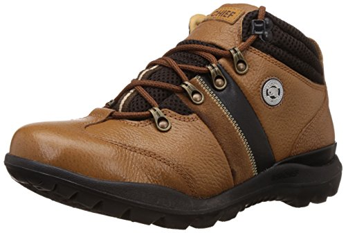 Redchief Men's Tan Leather Trekking and Hiking Footwear Shoes - 10 UK (RC5071)