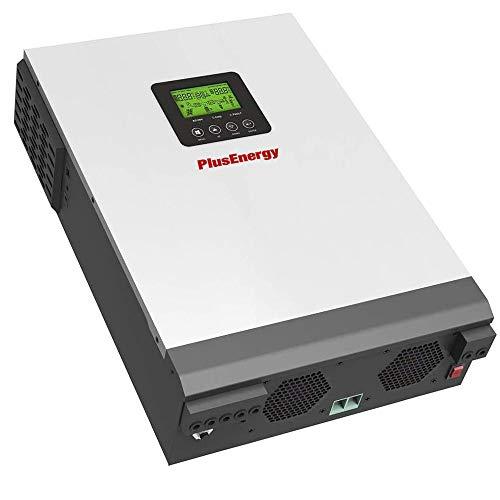 wccsolar Inversor Solar Híbrido Multifunción PlusEnergy 1KVA PK 1Kva 12V + Regulador PWM 50A + Cargador 20A