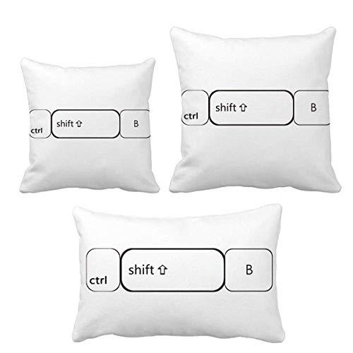 DIYthinker Tastatursymbol ctrl Shift B Wurf Kissen Set Einfügen Kissen Cover Home Sofa Dekor Geschenk