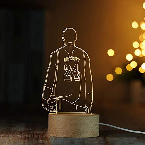 Decoratie 3D nachtlampje massief hout LED afstandsbediening tafellamp creatieve gift lamp kerstcadeau
