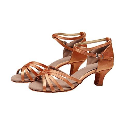 LIOOBO Frauen Latin Dance Schuhe für Damen Mädchen Tango Schuhe Ballroom Dance Schuhe (5cm, 37)