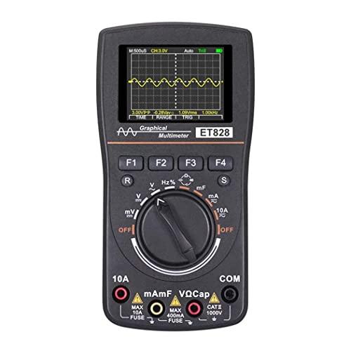 Msoauuy Multímetro Gráfico Gráfico De Range De Osciloscopio Digital Inteligente 2.4