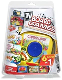 6-in-1 Plug 'N Play Games: Candyland, Silly 6 Pins, Hungry Hippo, Mat'em, Mixin Pics & Checkers