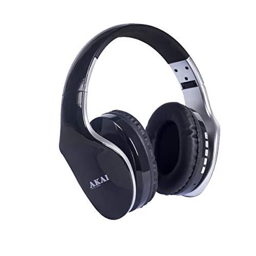 Akai BTH11 Auricular Supraaural Casco Plata - Auriculares (Supraaural, Casco, Inalámbrico y alámbrico, Bluetooth, Plata)