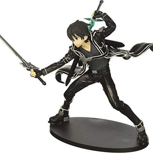 Sword Art Online Kirito Acción Modelo Animados Juego Personaje Modelo Estatua Figura Coleccionables Decoración 15 Cm- Regalos para Niños Y Amigos Black