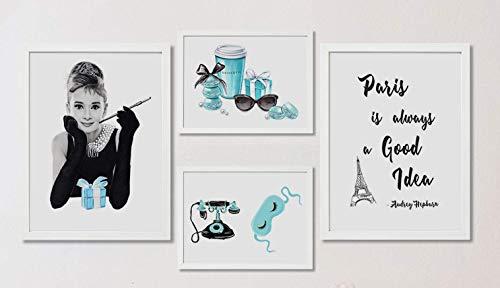 4Good - Póster prémium como cuadro o juego de imágenes para salón moderno, cuadro decorativo para dormitorios de Coco C. sin marco