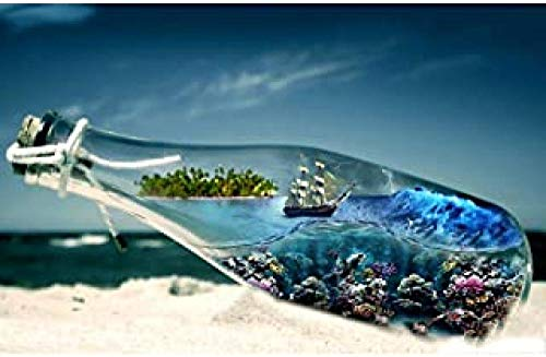 WOMGD® Fles Landschap Legpuzzels, Houten puzzel voor volwassenen 1000 stuk, Educatief spel Uitdaging Speelgoed Modern Huis Woonkamer Decor