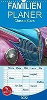 Classic Cars - Familienplaner hoch (Wandkalender 2022 , 21 cm x 45 cm, hoch): Bilder von amerikanischen Autos der 50er bis 70er Jahre, und Fotos von liebevoll gestalteten Details dieser Wagen (Monatskalender, 14 Seiten )