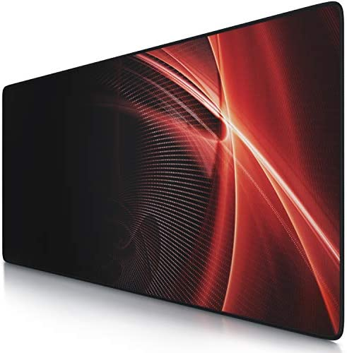 TITANWOLF Gaming Mouse Mat XXL - 900x400 mm Extended Large Mouse Pad XL Black mousepad
