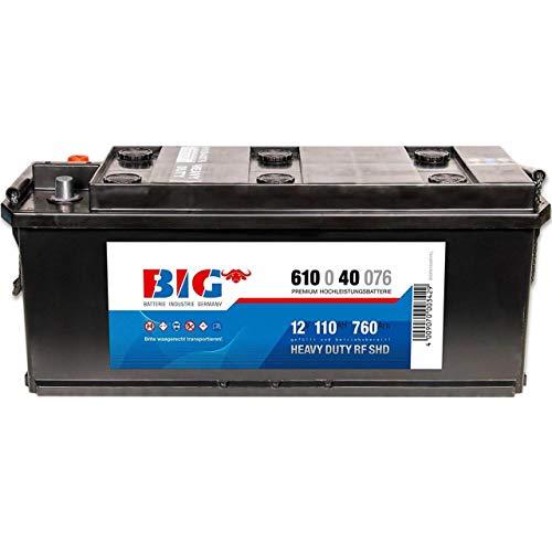BIG LKW-Batterie 12V 110Ah Starterbatterie 61040 für Traktor und Schlepper 135Ah