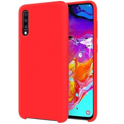 Funda silicona Samsung Galaxy A70 textura suave color rojo