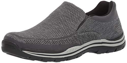 Skechers Men's Expected Gomel Slip-On Loafer, Grey, 6.5 M US